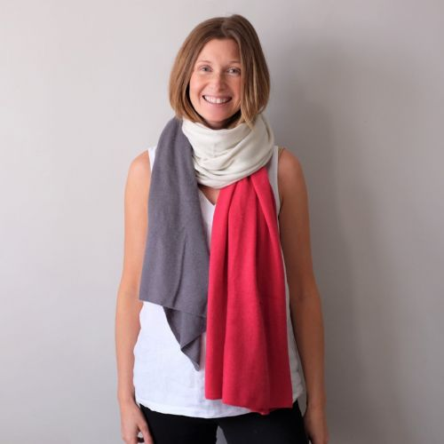 Multi colour cashmere wool wrap